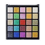 ROMANTIC BEAR 25 Farben Hochpigmentiert Glitzer Lidschatten Palette Diamond Makeup