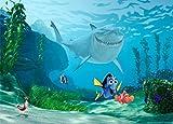 1art1 77948 Findet Nemo - Nemo, Dorie Und Bruce Fototapete Poster-Tapete 160 x 115 cm