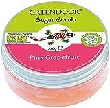 Greendoor Sugar Scrub Pink Grapefruit, Zucker Peeling ohne Kunststoff, 230g, Naturkosmetik