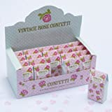 Vintage Rose Pink and White Heart Biodegradable Tissue Paper Wedding Throwing Confetti (20 Cartons)