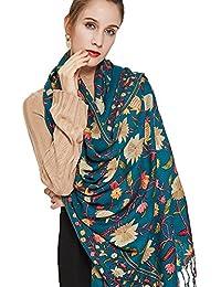 Dana XU 100% puro lana mujer bufanda de gran tamaño Pashmina