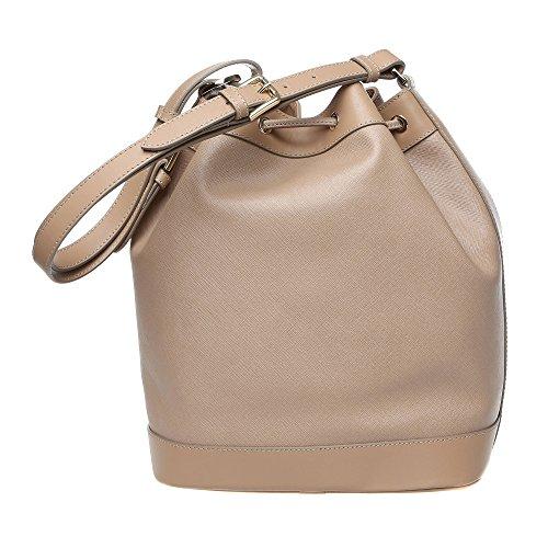 Sac bandoulire femme Trussardi, sac bandoulire avec sangle d'épaule réglable en Saffiano, Cuir de veau authentique 28x32x16 Cm Mod. 76B102M Boue
