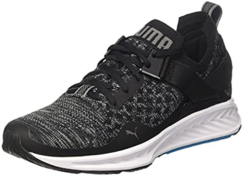 Puma Ignite Evoknit Lo, Chaussures de Running Compétition Homme, Noir (Black-Blue Danube-Quiet Shade), 45 EU