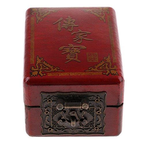 Sharplace Boîte de Rangement en Bois Style Chinois Vintage Antique Collection