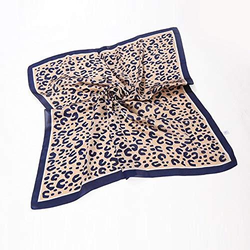 Leoparden Seidentuch Stirnbänder, TTWOMEN Halstuch Knoten Haarband Mehrzweck Turban Haar Zubehör (Marine) Marine Telefonkabel