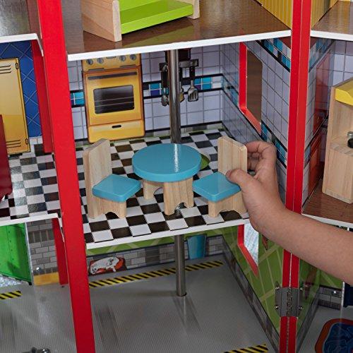 KidKraft - Everyday Heroes Spielset Feuerwehrhaus und Polizeiwache aus Holz - 19
