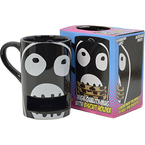 MIGHTY BOOSH BISCUIT MUG - Novelty Tea Coffee Cup with Biscuit ...