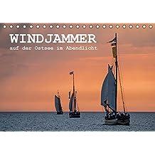 Windjammer auf der Ostsee im Abendlicht (Tischkalender 2018 DIN A5 quer): Windjammer auf der Ostsee im Abendlicht während der Hanse Sail in Rostock (Monatskalender, 14 Seiten ) (CALVENDO Natur)