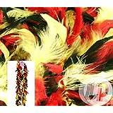 Lot / Set von 6 Stück - Boa 50gr rot 1.90m gelb & schwarz