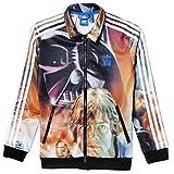 Adidas J SW Archive Fb Sweatshirt für Jungen, orange/schwarz/weiß, Gr. 104