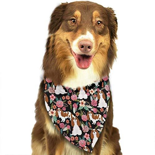 Wfispiy Dogs and Rose Bushes Fashion Pet Bandanas Dog Car Neck Scarf for Unisex Pet Boy Girls