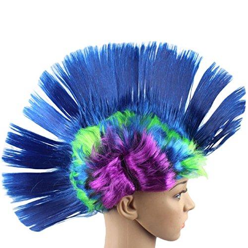 Vovotrade Hallowmas Masquerade Punk Mohawk Irokesenfrisur Frisur Cockscomb (Sexy Halloween Kostüme Rabatt)
