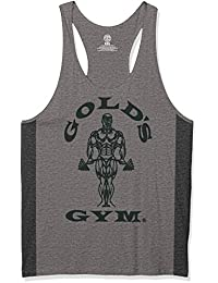 Golds Gym Herren Unterhemd Muscle Joe Tonal Panel Stringer Vest