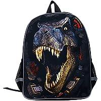 Moolecole Unisex 3D Dinosaur Print Children School Backpack Kids Rucksack Daypack Toddlers Nursery School Bag