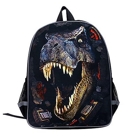 Moolecole Unisex 3D Animaux Print Daypack Sac Enfants De Dinosaure Sac à Dos Enfants Sac à Dos Garçons Filles Enfant De L'école Maternelle