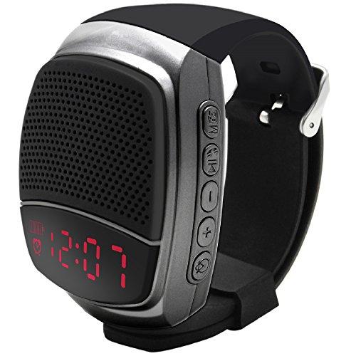 Galleria fotografica Svpro Altoparlanti Bluetooth Senza Fili Watch,Bracciale Intelligente con Lettore Musicale,Hands-Free Call,Autoscatto,Supporti USB,TF Prendendo Photoes e Visualizzazione orologio