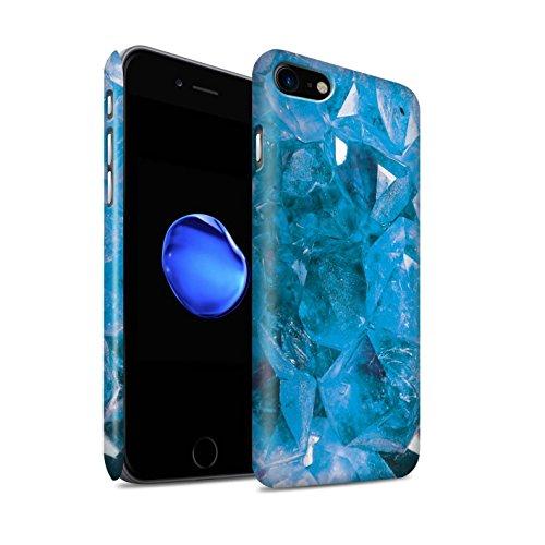 STUFF4 Matte Snap-On Hülle / Case für Apple iPhone 7 Plus / Juni/Mondstein Muster / Edelstein/Stein Kollektion November/Blautopas