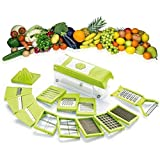Shraddha 15 In 1 Chipser | Fruit & Vegetable | Graters | Slicer | Dicer | Cutter | Chopper ABS Body And Heavy Stainless Steel Blades (Green)