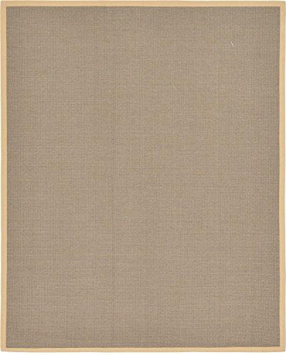 Unique Moderne Solid Geschenkpapierrolle 244cm von 3m wahr (8'x 10') Sisal taupe modernes Bereich Teppich (Bereich 8x10 Taupe)