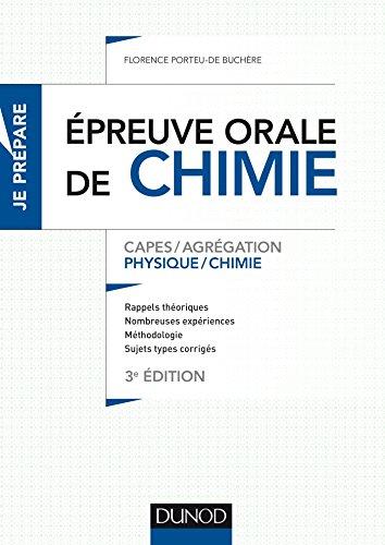 L'épreuve orale de chimie - 3e éd. - Capes/Agrégation
