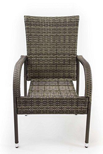 Avanti Trendstore - Arezzo - Set mit 2 Stühlen aus grauem Polyrattan, Maße Lap 46x90x62 cm Lap-set