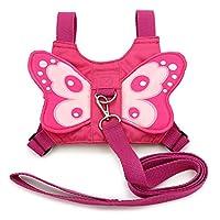 BTSKY Baby Toddler Kids Butterfly Wings Safety Harness Reins Strap Belt Lead Pink