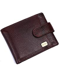 Hammonds Flycatcher RFID Protected Brown Nappa Leather Wallet for Men|5 Card Slots| 1 Coin Pocket|2 Hidden Compartment|2 Currency Slots|1 ID Slot|with Easy Access Card Container