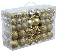 Idea Regalo - Esclusivo palline di Natale palle di Natale SET con 100 pcs colore oro