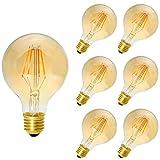 6 Pack E27 Ampoule Filament LED 4W G80 Ampoule Edison Dimmable Lampe Vintage Blanc...
