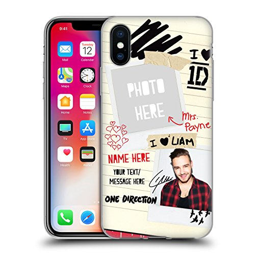 Cover Personalizzata Personale One Direction 1D Harry 4ever I Ship Us Cover Morbida In Gel Per Apple iPhone X Mrs. Payne