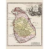 Wee Blue Coo LTD Balda Relandi Map Ceylon Sri Lanka Only
