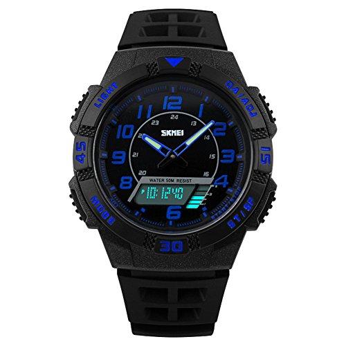 Kinder Armbanduhr Jungen Digital Analog Wasserdicht Sports Uhren für Jungs und Mädchen,Blau Digital Uhr