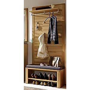 e-combuy Möbel Garderoben Set NATUREX258 (2-tlg Garderobenpaneel groß)