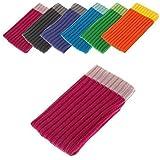 BRALEXX Funda Calcetín Textil Adecuado para Samsung Sony Apple Huawei HTC Nokia Microsoft Alcatel Motorola - Rosa intenso, LG Google Nexus 5