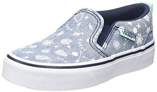 Vans Mädchen My Asher Sneakers Blau (Doodle Floral)
