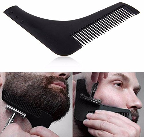 Anoop Beard Shaping & Styling Tool Comb for Perfect Beard Lines & Symmetry (Black)