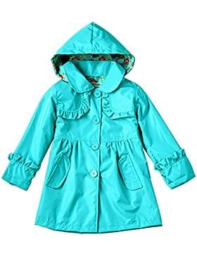 Meijunter Bambini Ragazze Colorful Outwear Giacca da pioggia Windbreaker Impermeabile Poncho Rainwear con cappuccio...