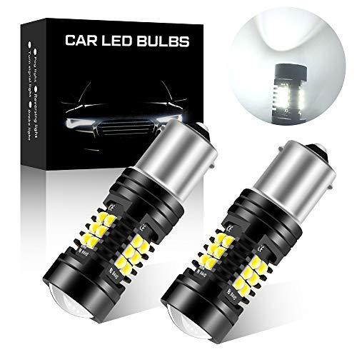 2Pcs Doppia lente Bianco 1156 BA15S P21W Lampadina LED 21SMD 3030 Chip Super Luminoso per Auto Camion Rimorchio Posizione di Retromarcia Luce Posteriore Fendinebbia 12 V
