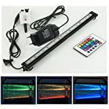 Xcellent Global Cambia color a distancia de 46CM 27 luces LED RGB para acuario Sumergible impermeable Burbuja de luces de 16 colores de 46CM 5050 LED con enchufe europeo LD063E