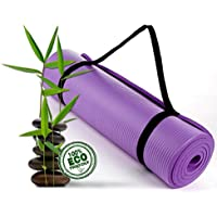 Bodhivana NON SLIP Yoga Mat | Yoga Mats for Home | Extra Thick Yoga Mat 15mm Workout Mats Exercise Mats with Carry Strap | INCL FREE Flat Tummy Yoga Guide Ebook