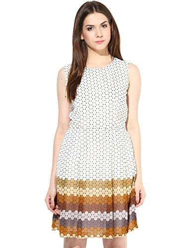 Shakumbhari Women's Cotton Skater Dress (SW-639B-L_Black)  available at amazon for Rs.338