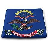 keiwiornb Soft Car Pads/Square Seat Cushions-Flag of North Dakota