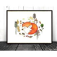 TinyTami - Aquarell Fuchs Kunstdruck -