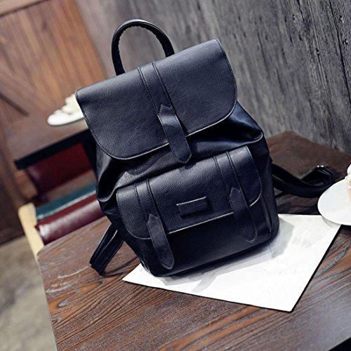 Sac à bandoulière, LHWY sac à dos voyage sac à main sac à dos Casual Backpack femmes Noir
