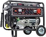 DeTec. - Benzin Stromerzeuger Notstrom Aggregat Stromgenerator 5,5 KW mit Starkstrom 230V + 400V