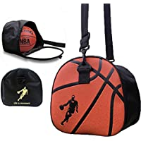 Baffect Portable Pliable Basketball Sac de rangement Sac à bandoulière Soccer Ball de football volley-ball support pour homme garçon étudiant Noir