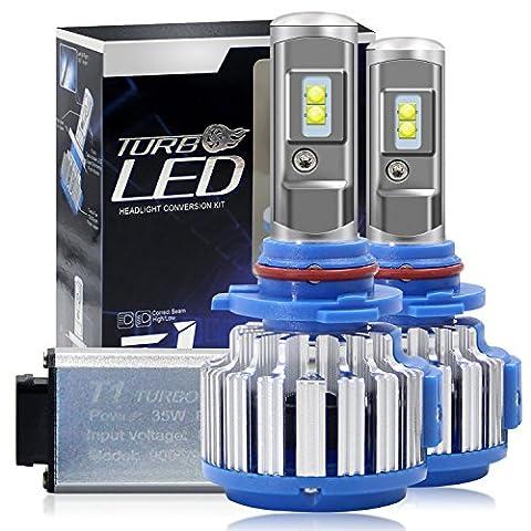 Winpower Kit de conversion tout-en-un 2ampoules LED Cree H1 H3 H4 H7 H11 H13 9005 9006 Blanc froid 880-7200lm 70W 6000K