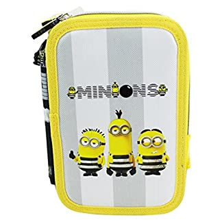 Minions Jail 3 Estuche Escolar Làpices de colores Plumier triple