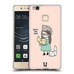Idea Regalo - Head Case Designs Crazy Cat Lady Ecco Perche' Sono Single Cover Morbida in Gel per Huawei P9 Lite / G9 Lite