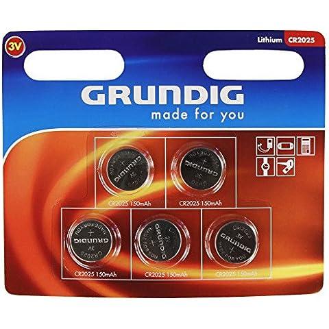 Agli ioni di litio-Batterie a bottone GRUNDIG CR2025, 3 V, (Agli Ioni Di Litio A Bottone)